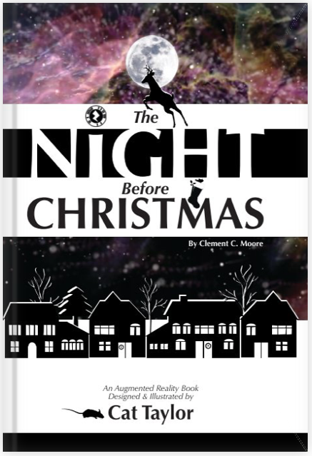 First image spread of The Night Before Christmas Augmented Reality Book